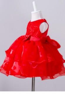 Robe ceremonie rouge bebe