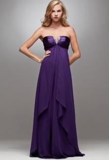 iwalani -  robe de soiree longue col V sur mesure réf 4021