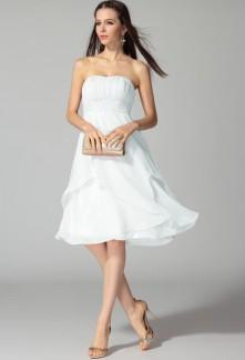 Robe de soiree blanc et parme