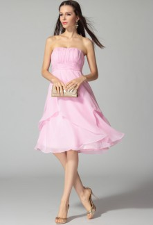 08eac9d9da5 Fleur - robe de soiree courte bustier mi-longue 4061