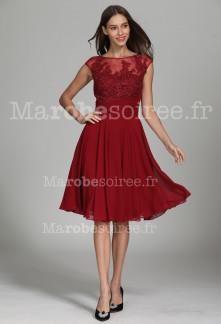 superbe robe courte fluide avec dentelle - Réf 1942