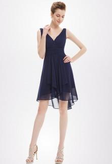 robe bleue marine pour un mariage robes l gantes pour 2018. Black Bedroom Furniture Sets. Home Design Ideas