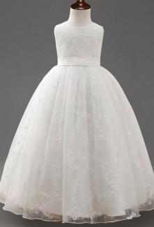 Robe de mariage longue pour fille