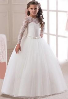 Robe de mariage princesse manches longues réf: EFC355