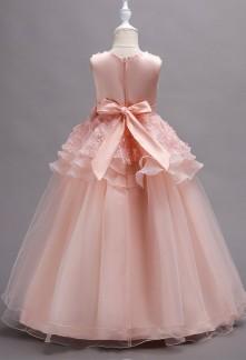 10f201cfa539b Robe de soirée fille Robe de soirée fille. Jolie Rose Dentelle Fleur Fille  Robes Pour Le Mariage ...