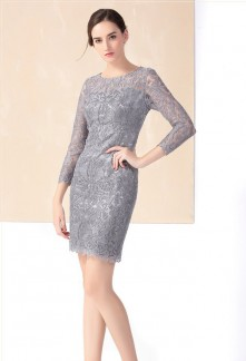 Robe de cocktail gris