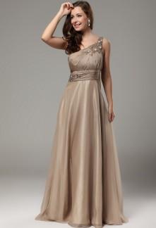 robe de soirée longue asymétrique pour mariage pas cher