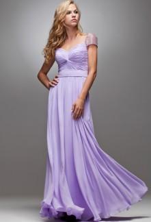 robe de soirée longue manche courte brillantes