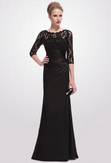 Modele robe noir longue