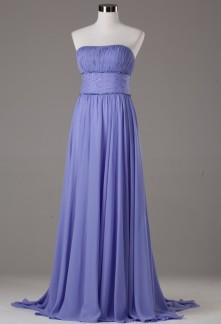 robe de soiree longue mousseline lavande