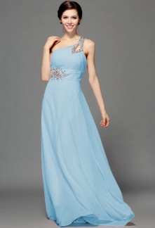 Robe soiree bleu clair
