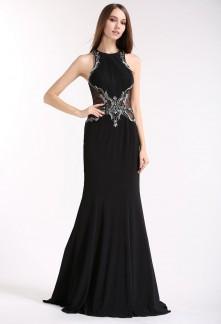 Robe de soirée noir sexy dos transparent Réf 1889