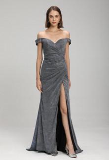 robe de soirée sirène avec fente Réf 2171