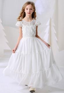robe de cérémonie enfant blanche pour communion