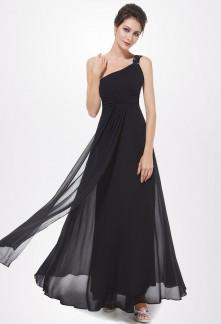 Robe noir longue pour un mariage