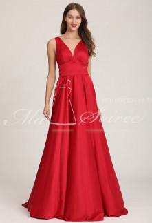 robe longue avec décolleté plongeant- réf 2103