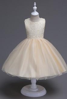 Robe de mariage champagne pour fille