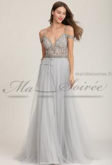 Sublime robe de soirée dos nu- Réf 2151
