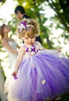 robe de cortège enfant mauve / violet