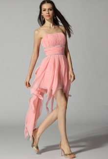 Robe cocktail rose gris