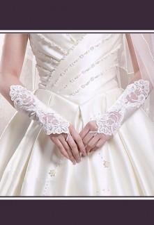 gants mariée longs satin strass perles et dentelle