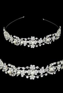 Serre tête épais avec perles et strass - réf fg118
