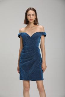 robe de cocktail bustier plissé Réf 2118