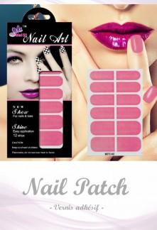 Nail Patch stickers à ongles fuchsia réf 140