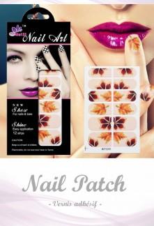 Nail Patch stickers à ongles motif feuille plane réf 264