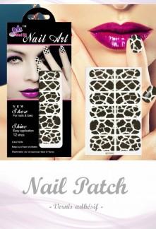 Nail Patch stickers à ongles motif léopard marron réf 043