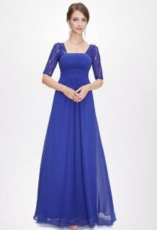 Robe bleu electrique de soiree