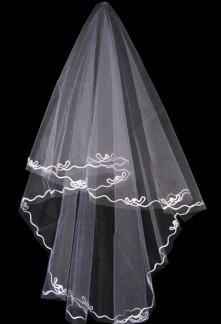 voile de robe de mariée brodé t12