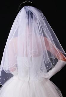 Belle voile jumelant à votre robe de mariée élégante en tulle.