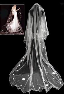 Long voile de mariée