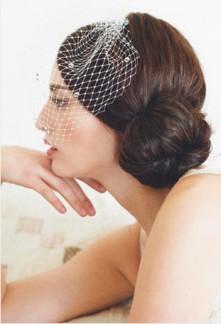 Voilette de mariée rétro cristal - réf W001