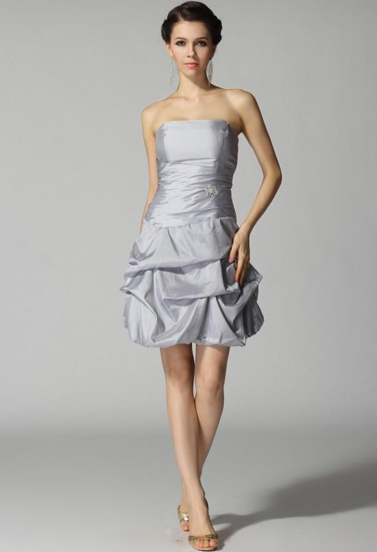 Anna - robe de soirée plis ballons - sur demande réf 4001