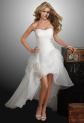 Robe de mariée asymétrique bustier plissé réf 022 - sur demande
