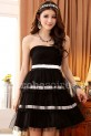 Déstockage - Laetitia - babydoll robe de cocktail bicolore réf 3108