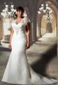 Robe de mariée avec manche courte en volant - sur demande réf 139