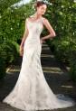 Robe de mariée sirène broderie fine asymétrique - réf 158 SUR DEMANDE