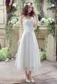 Robe de mariée bustier mi-longue réf SQ268 - sur demande