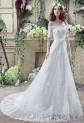 Robe de mariée épaules dénudées manches courtes réf SQ280