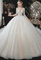Robe de mariée princesse manches longues M2122 - sur demande