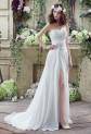 Robe de mariée simple avec bustier drapé réf SQ251