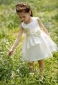Robe de cortège enfant blanche avec bretelles et fleur réf: DY-1011