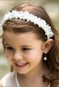 Serre tête fleuri avec strass et perles - réf DY-F034