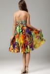 charlotte - robe de soirée strass et fleurs colorées
