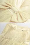 babydoll robe de cocktail courte blanche et rose décolleté V