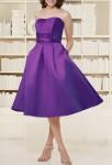violet  robe de soirée rétro vintage sur mesure