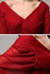 Camelia - robe de cérémonie longue drapée sur mesure réf 9650